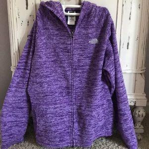 North Face Purple Hoodie